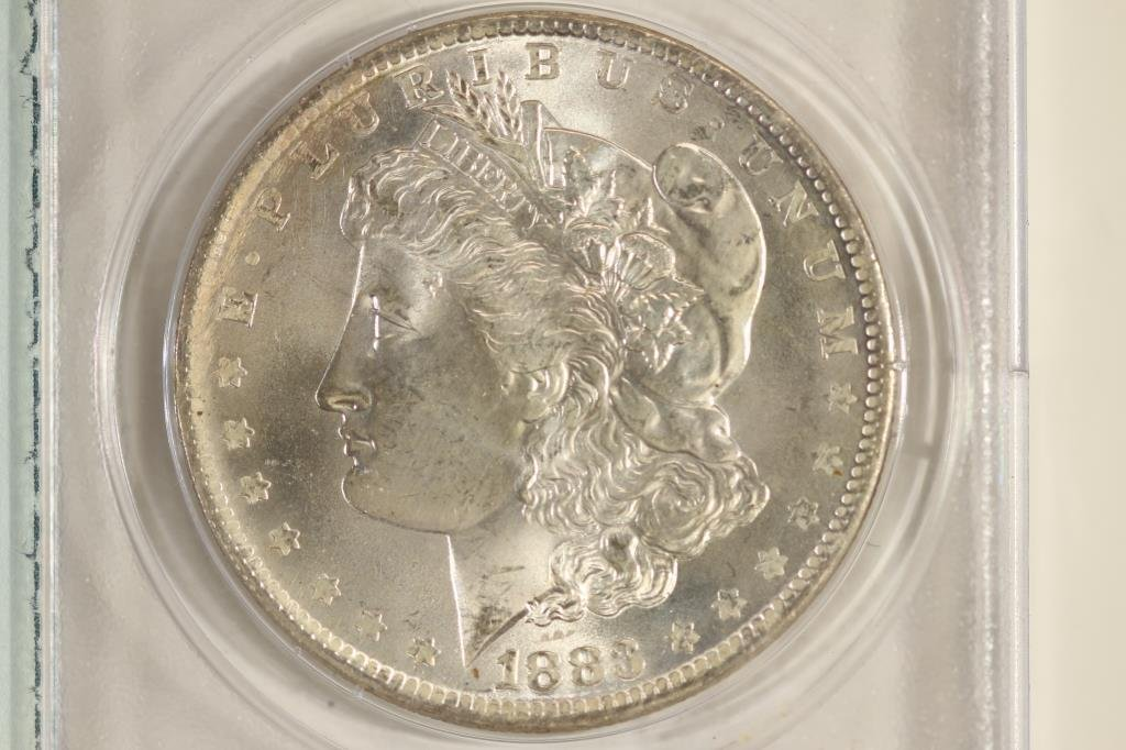 1883-O MORGAN SILVER DOLLAR PCGS MS61