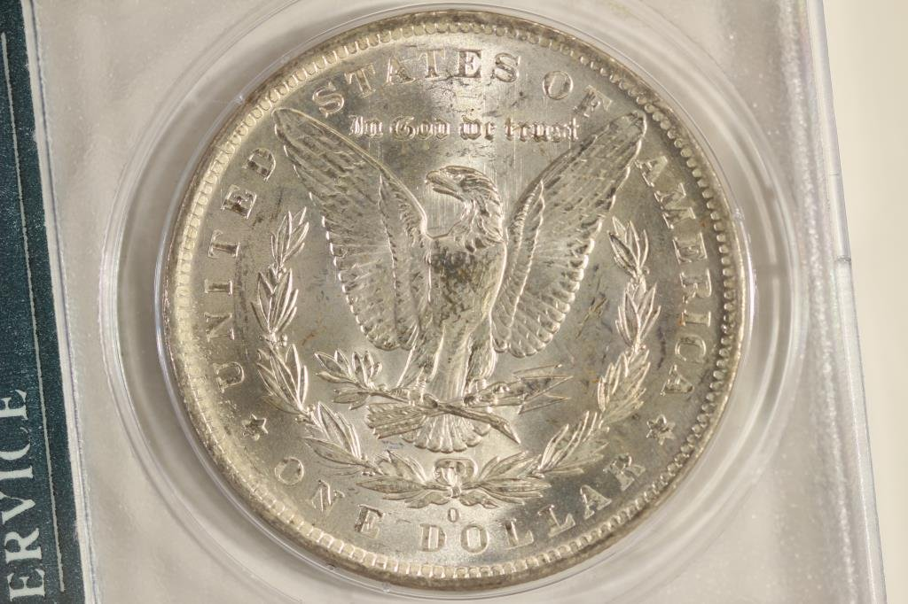 1883-O MORGAN SILVER DOLLAR PCGS MS61 - 2