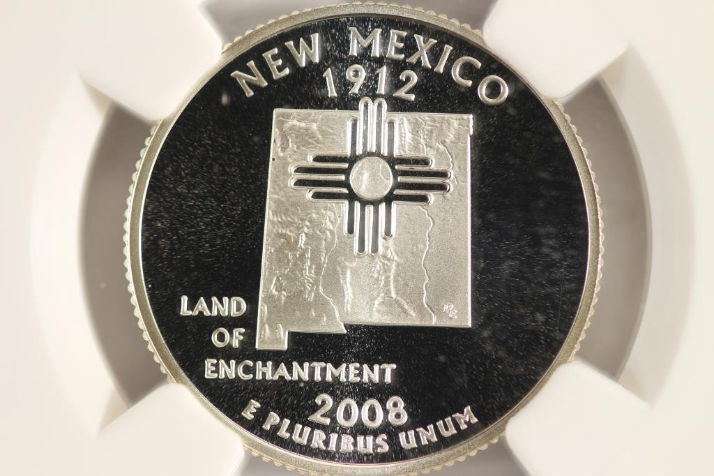 2008-S SILVER NEW MEXICO QUARTER NGC PF70