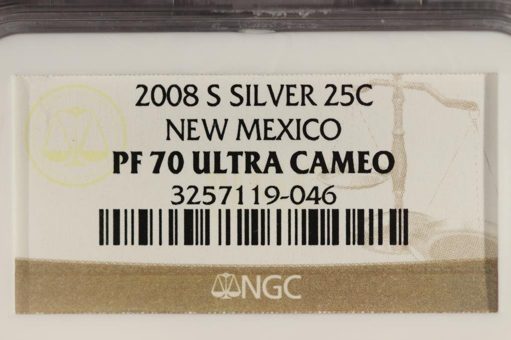 2008-S SILVER NEW MEXICO QUARTER NGC PF70 - 3