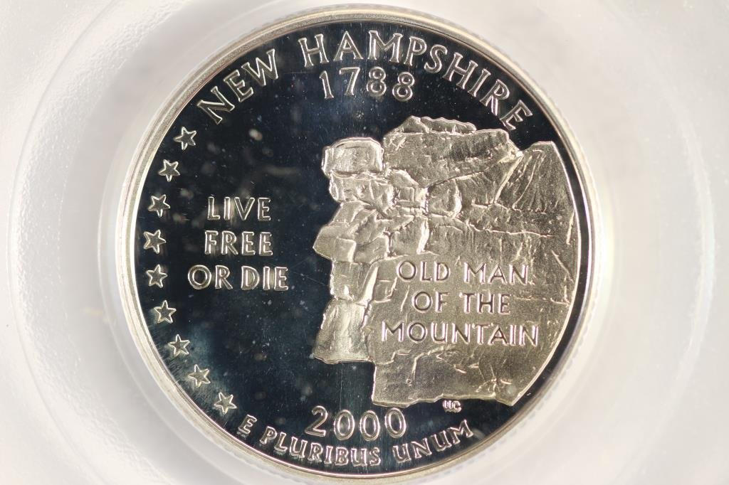 2000-S SILVER  NEW HAMPSHIRE QUARTER PCGS PR69