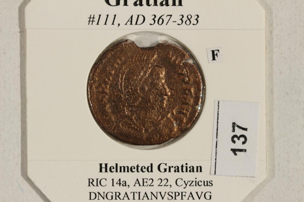 367-383 A.D. GRATIAN ANCIENT COIN (FINE) - 3