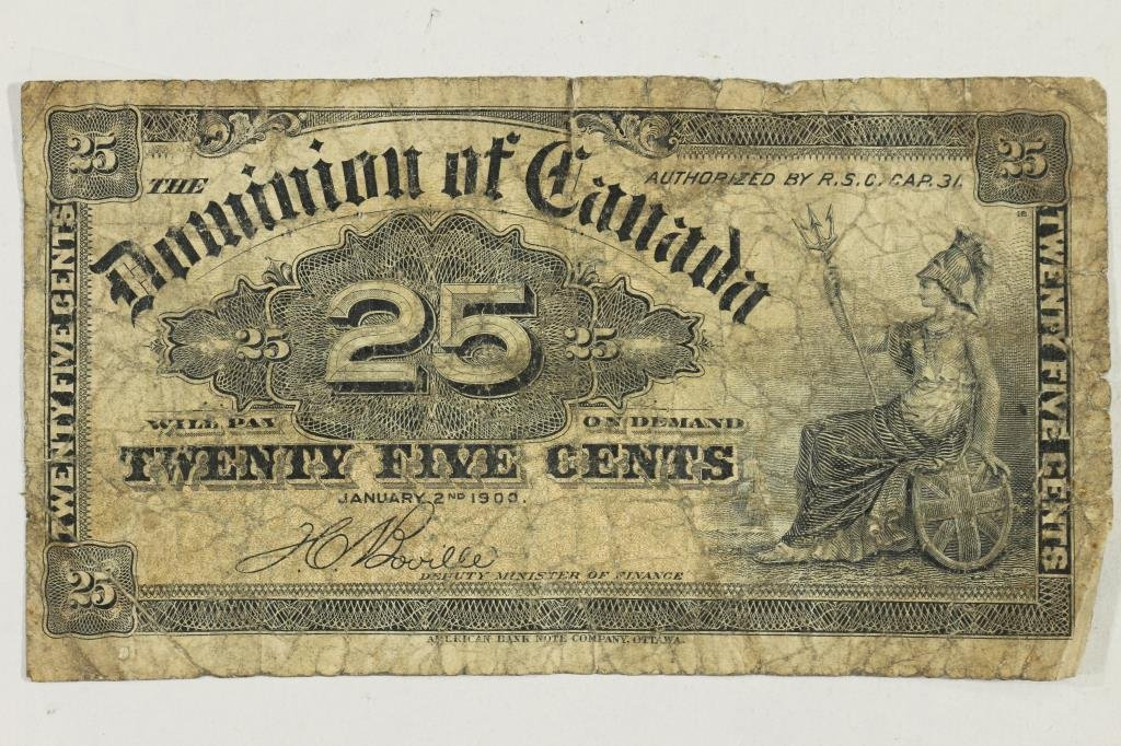 1900 DOMINION OF CANADA 25 CENT US FRACTIONAL
