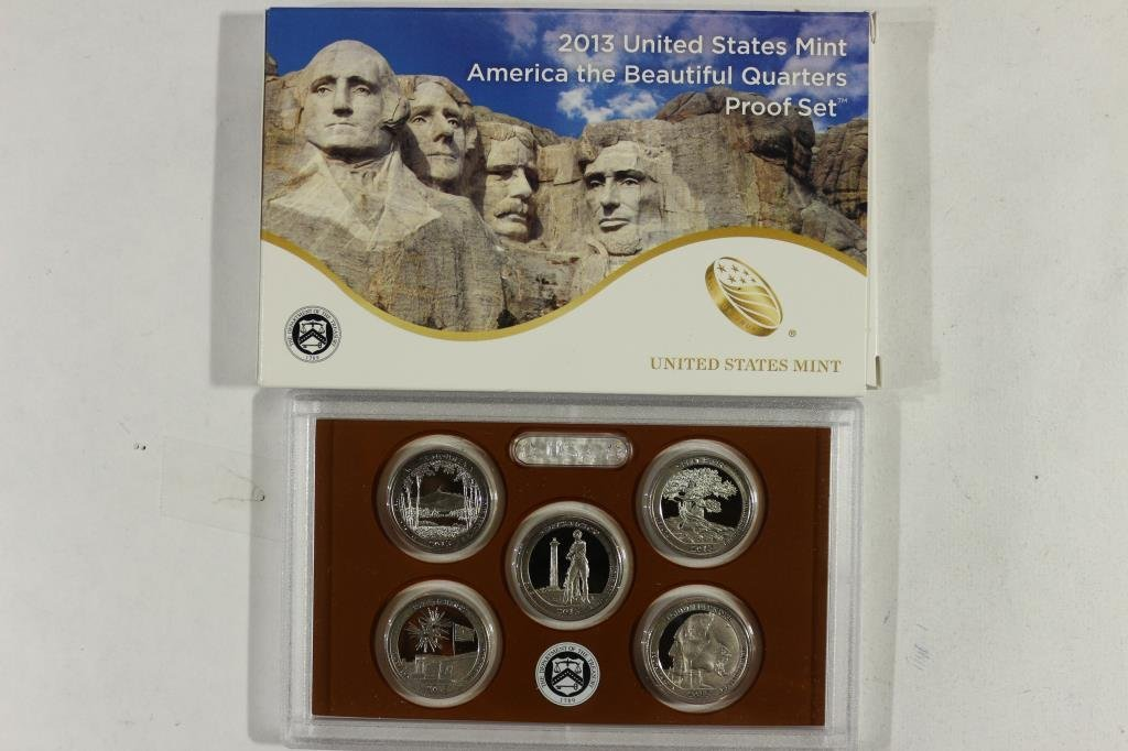 2013 AMERICA THE BEAUTIFUL QUARTERS PF SET WITHBOX