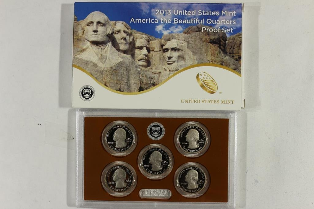 2013 AMERICA THE BEAUTIFUL QUARTERS PF SET WITHBOX - 2