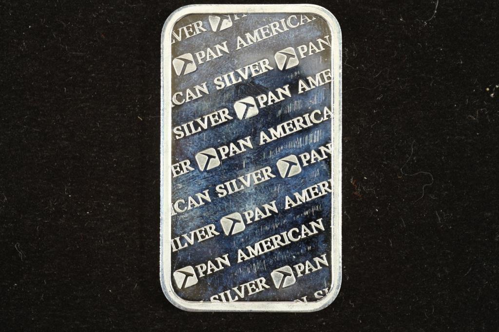 1 TROY OZ .999 FINE SILVER INGOT PAN AMERICAN - 2