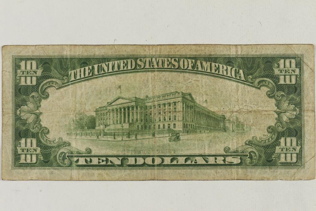 1934-A $10 SILVER CERTIFICATE NORTH AFRICA - 2