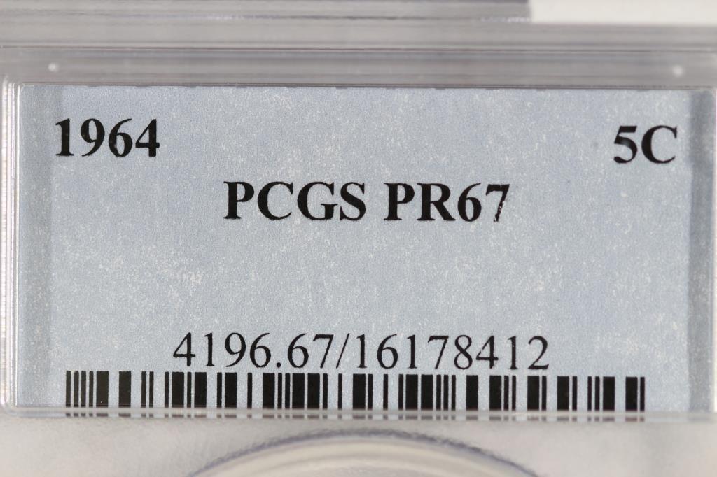 1964 JEFFERSON NICKEL PCGS PR67 - 3