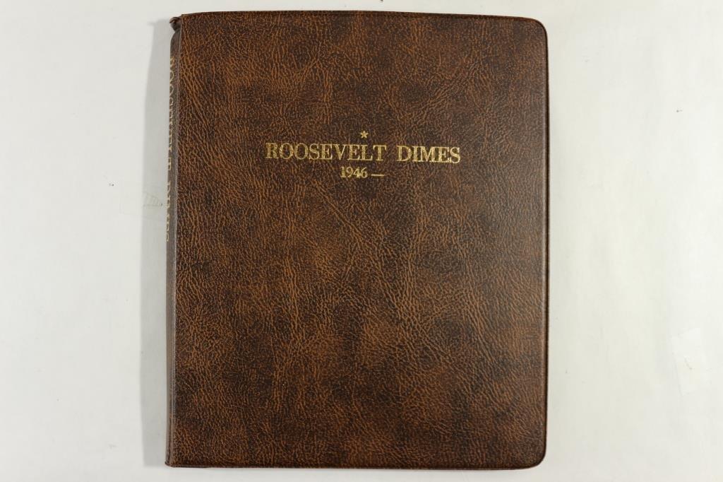 PARTIAL ROOSEVELT DIME ALBUM 1946-UP