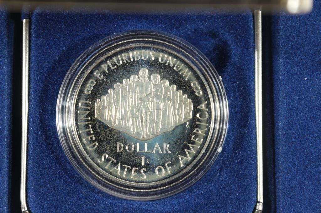 1987-S US CONSTITUTION PROOF SILVER DOLLAR - 2