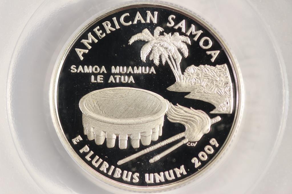 2009-S SILVER AMERICAN SAMOA QUARTER PCGS PR69