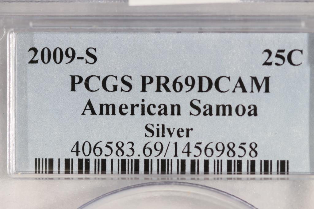 2009-S SILVER AMERICAN SAMOA QUARTER PCGS PR69 - 3