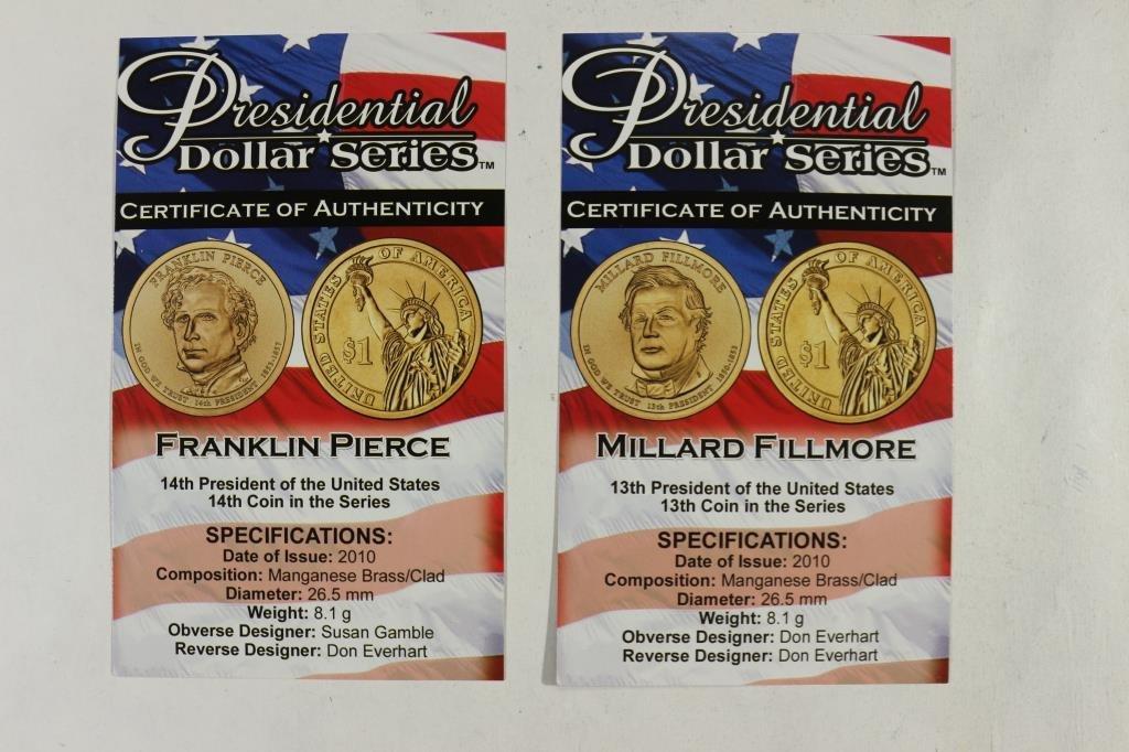2010-P & D FILLMORE & 2010-P & D PIERCE DOLLARS - 3