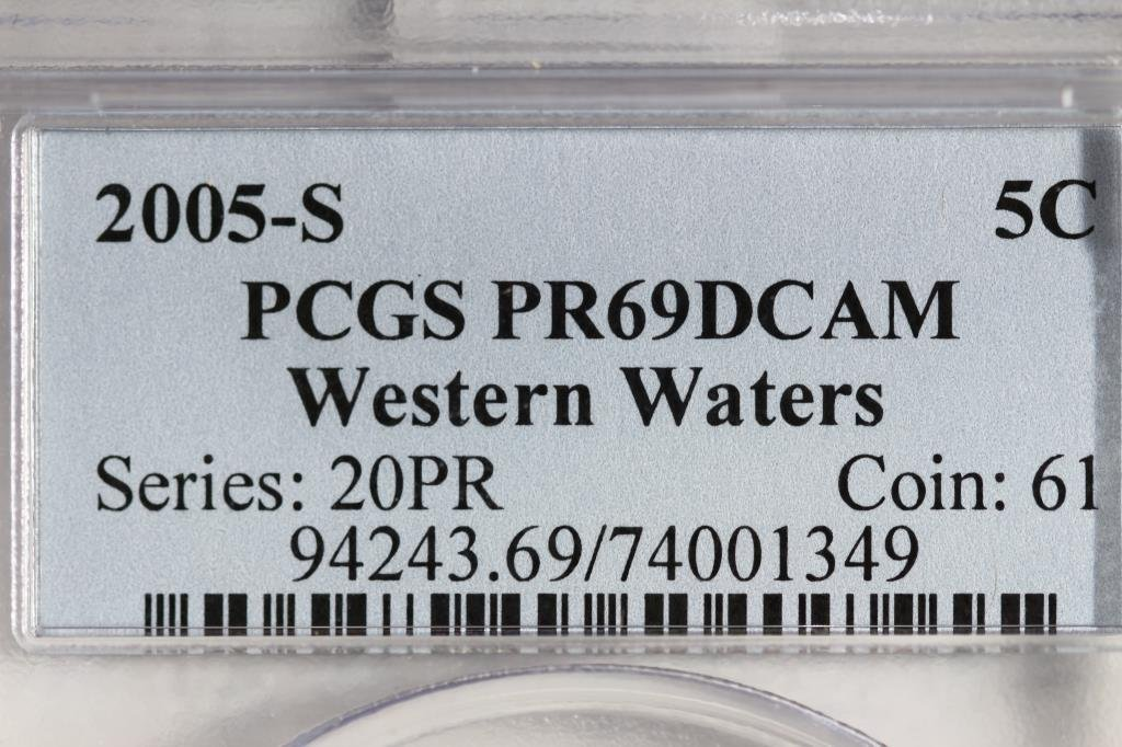 2005-S WESTERN WATERS NICKEL PCGS PR69 DCAM - 3