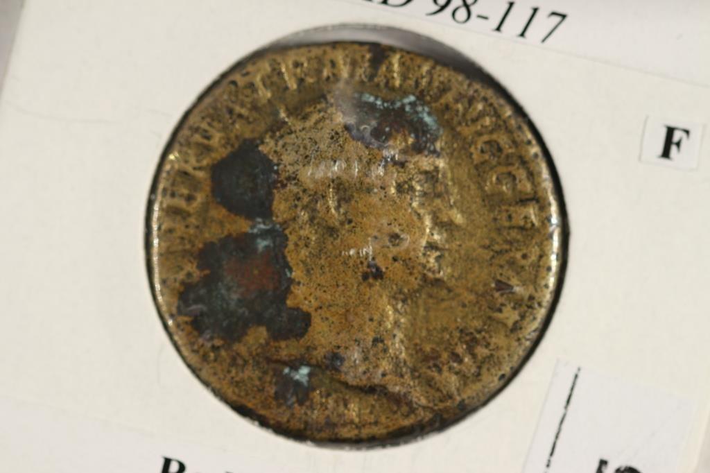 98-117 A.D. TRAJAN ANCIENT COIN (FINE)