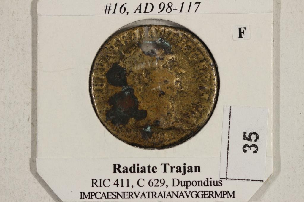 98-117 A.D. TRAJAN ANCIENT COIN (FINE) - 3