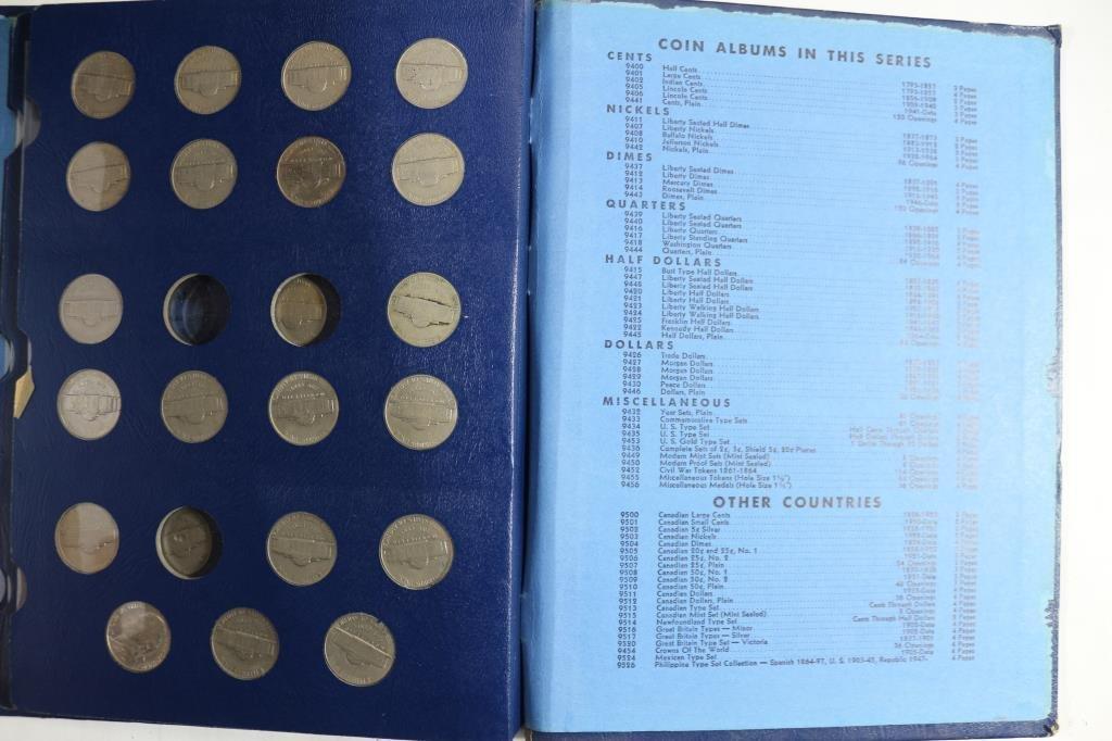 PARTIAL 1938-1964 JEFFERSON NICKEL ALBUM - 4