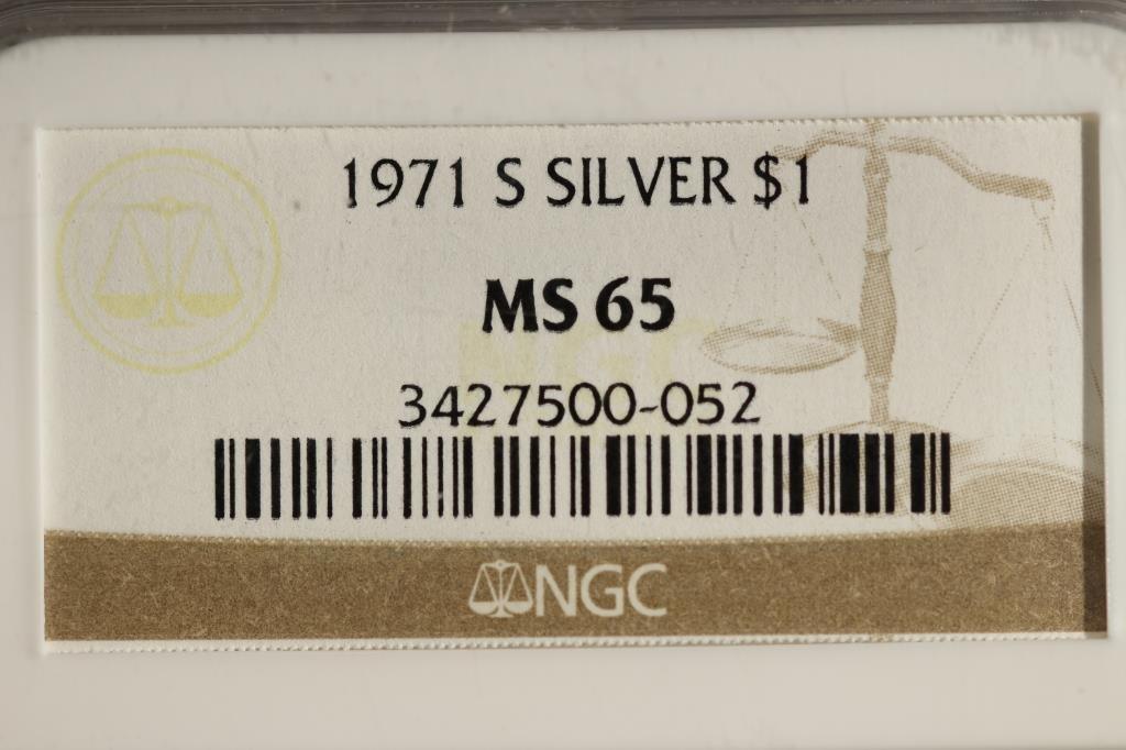 1971-S SILVER  IKE DOLLAR NGC MS65 - 3