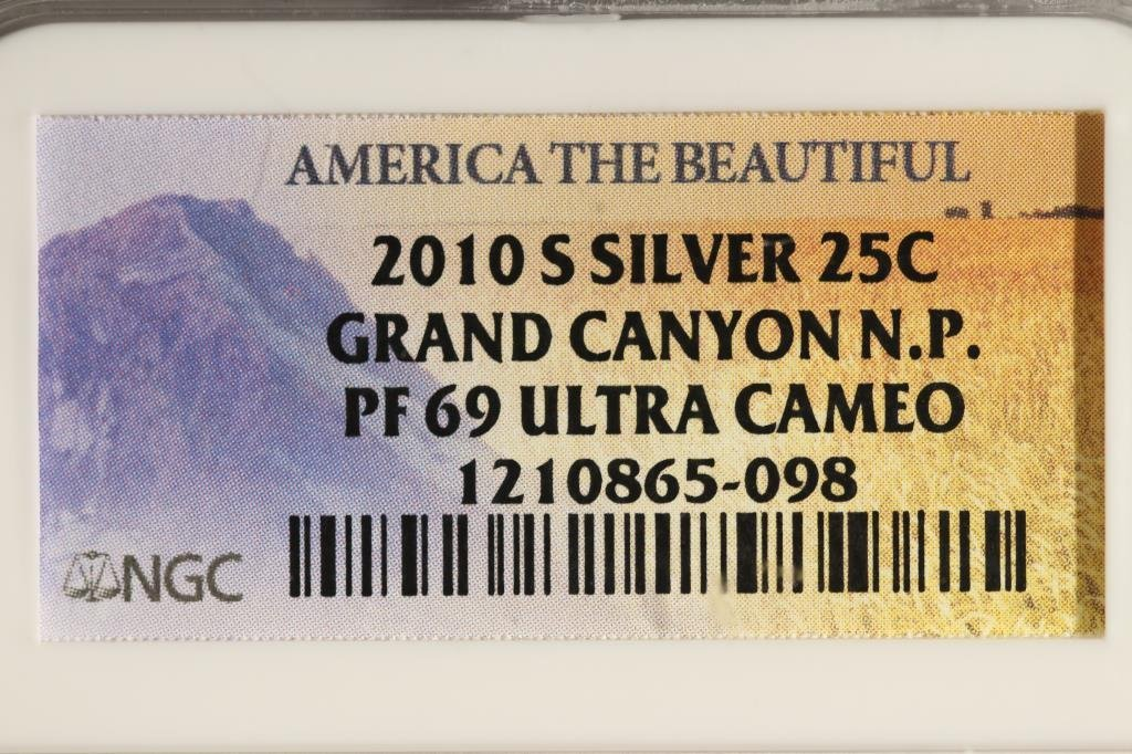 2010-S SILVER GRAND CANYON N.P. QUARTER NGC PF69 - 3