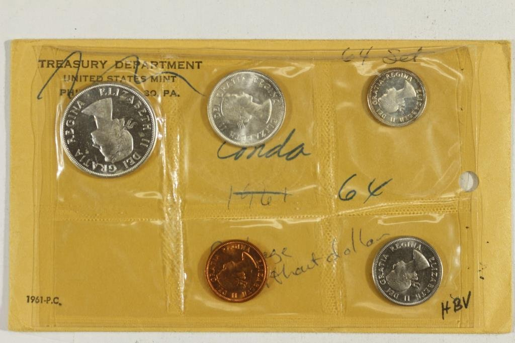 PARTIAL 1964 CANADA SILVER (PF LIKE) SET - 2