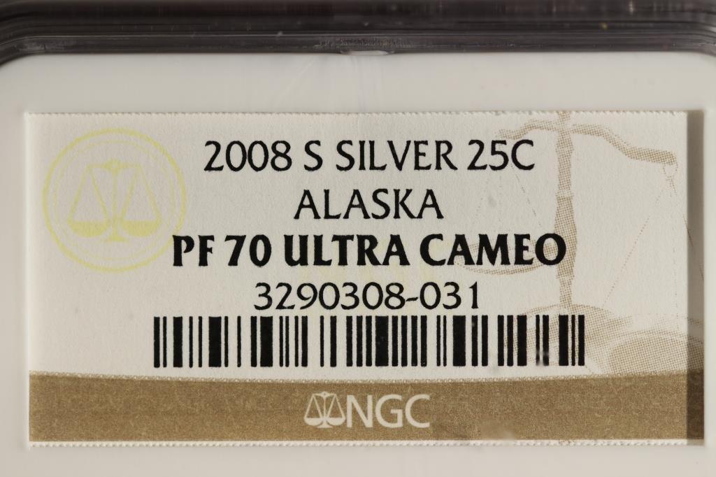 2008-S SILVER ALASKA QUARTER NGC PF70 ULTRA CAMEO - 3