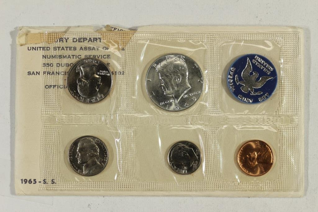 1965 US SPECIAL MINT SET WITH ENVELOPE