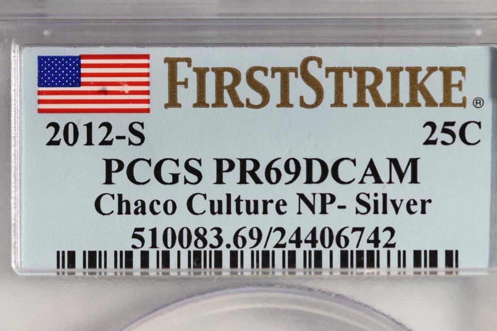 2012-S SILVER CHACO  CULTURE  N.P. QUARTER PCGS - 3