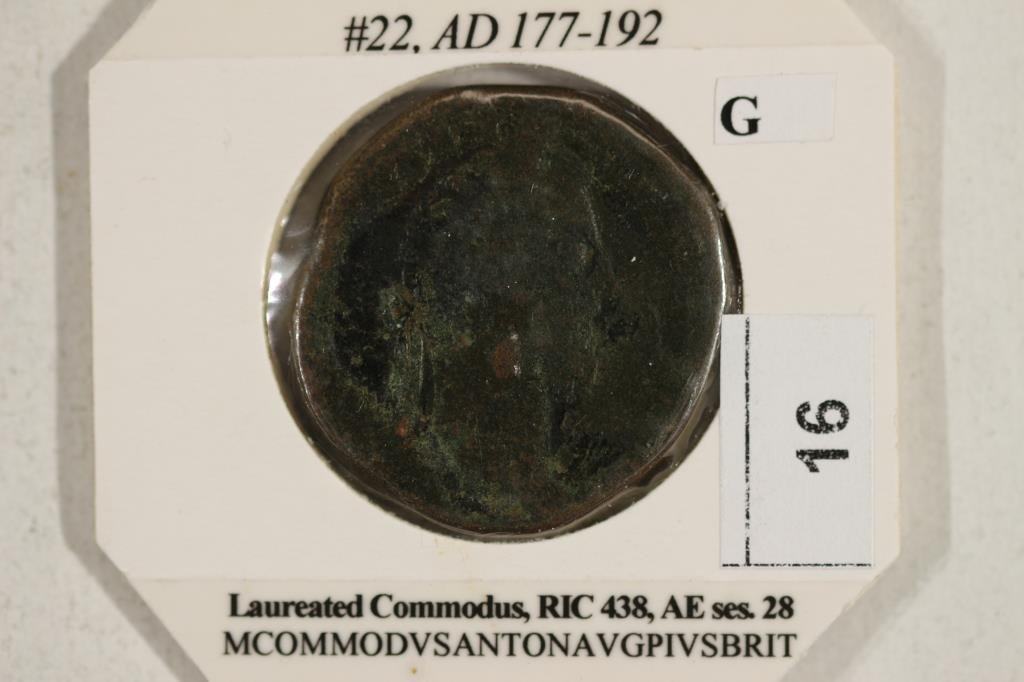 177-192 A.D. COMMODUS ANCIENT COIN - 3