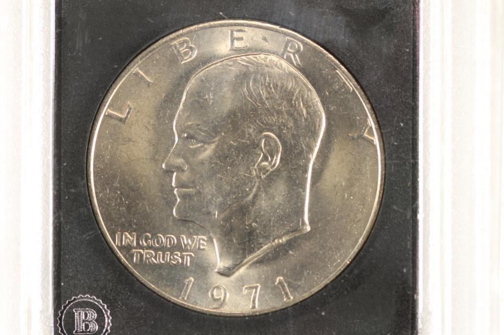 1971 IKE DOLLAR & 1979 SBA DOLLAR BOTH BRILLIANT