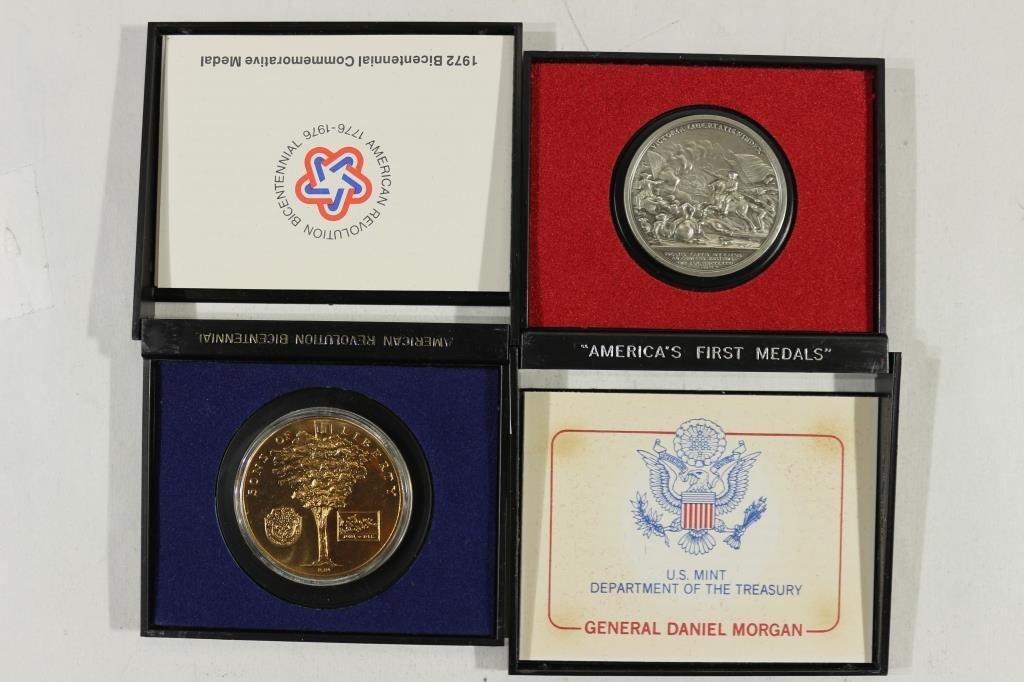 2 US MINT AMERICAS 1ST MEDALS GENERAL DANIEL - 2