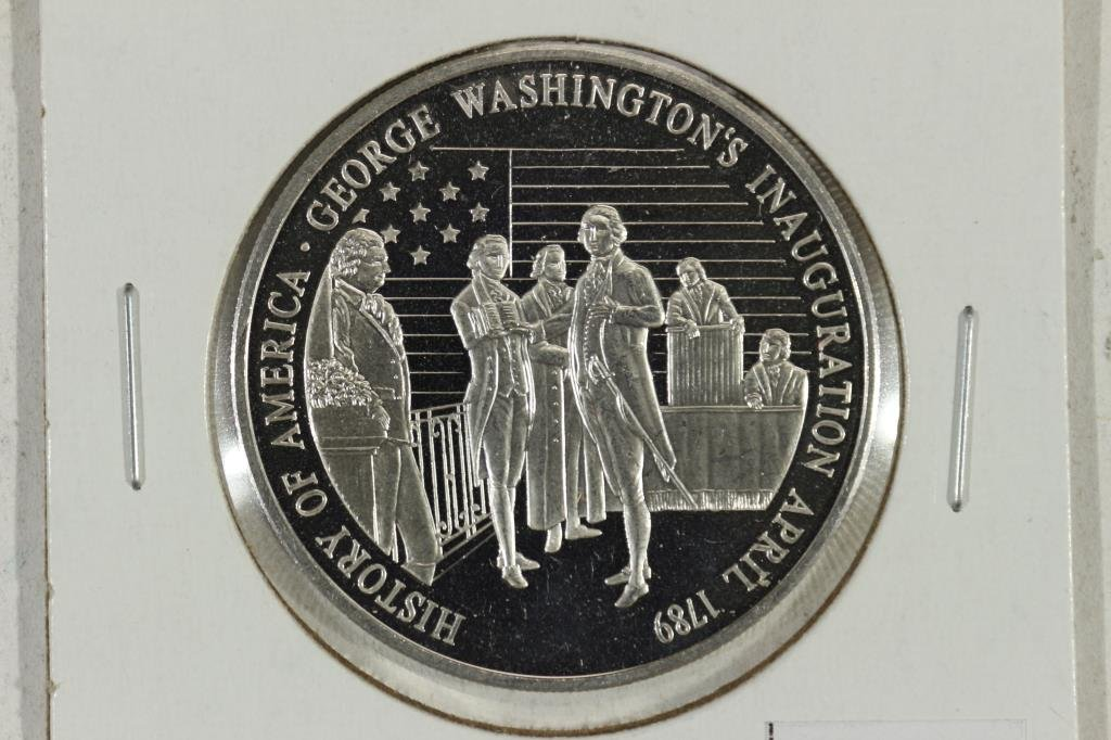 20.1 GRAM .999 SILVER PROOF ROUND HISTORY  OF