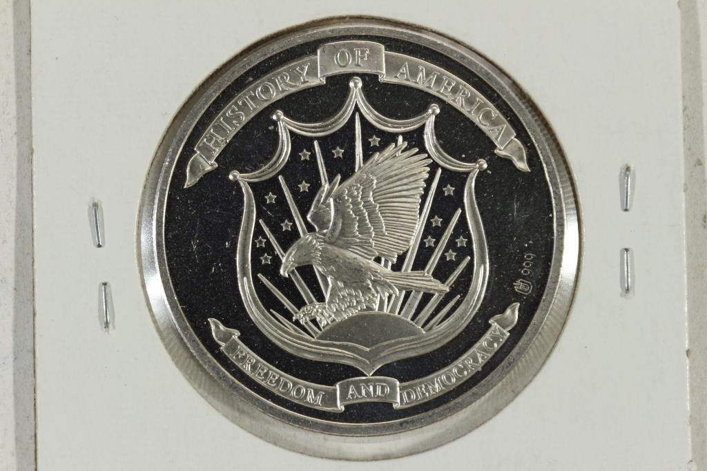 20.1 GRAM .999 SILVER PROOF ROUND HISTORY  OF - 2