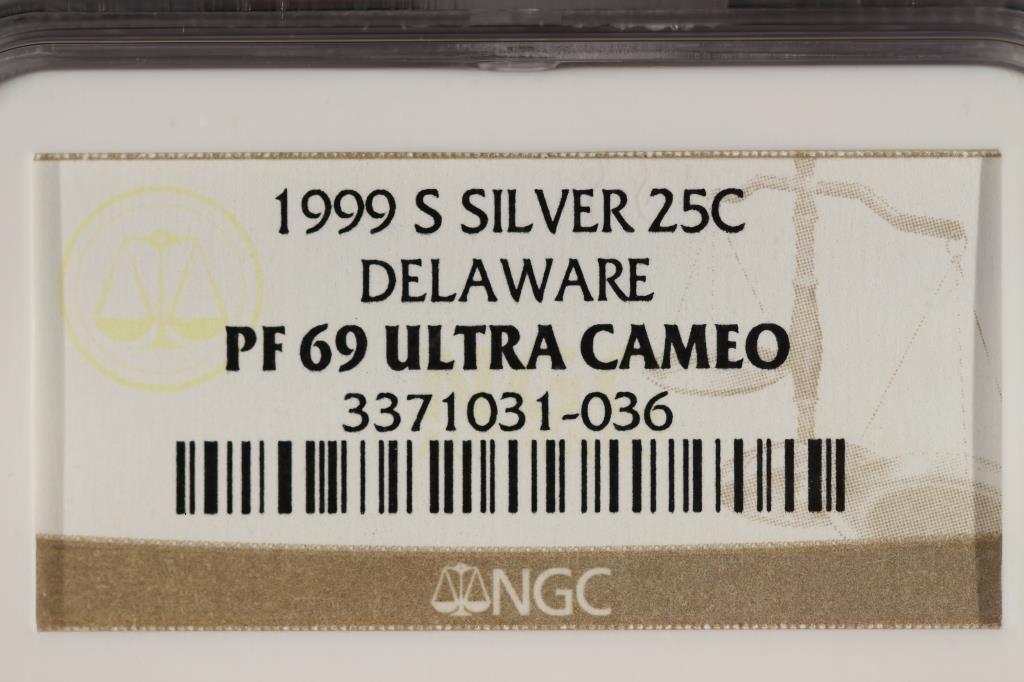 1999-S SILVER DELAWARE QUARTER NGC PF69 ULTRA CAM - 3