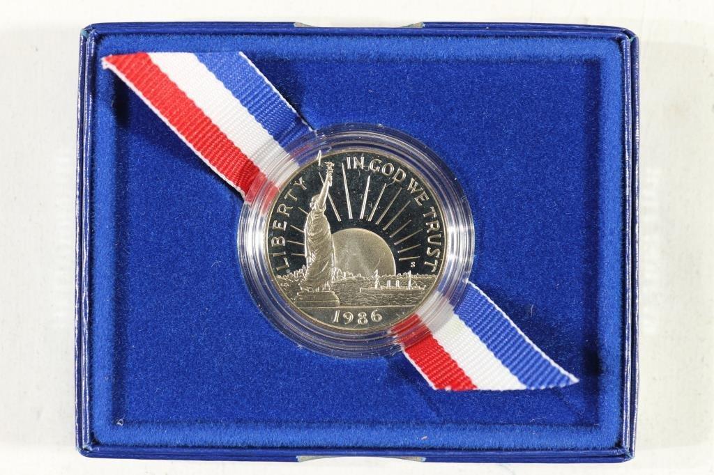 1986-S STATUE OF LIBERTY HALF DOLLAR