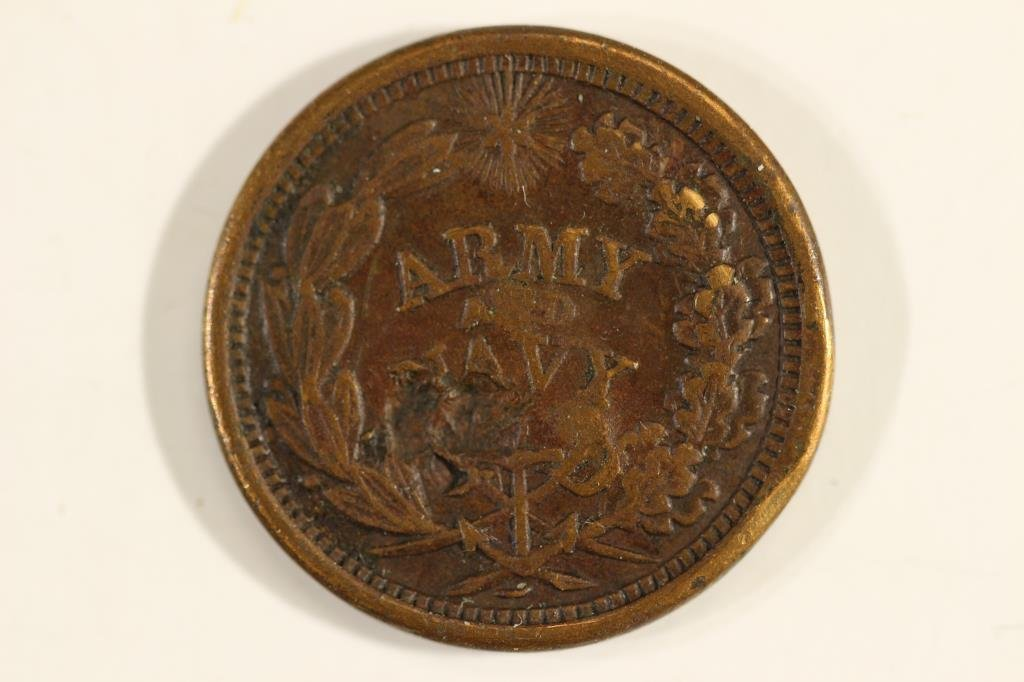 CIVIL WAR TOKEN THE FEDERAL UNION MUST AND SHALL - 2