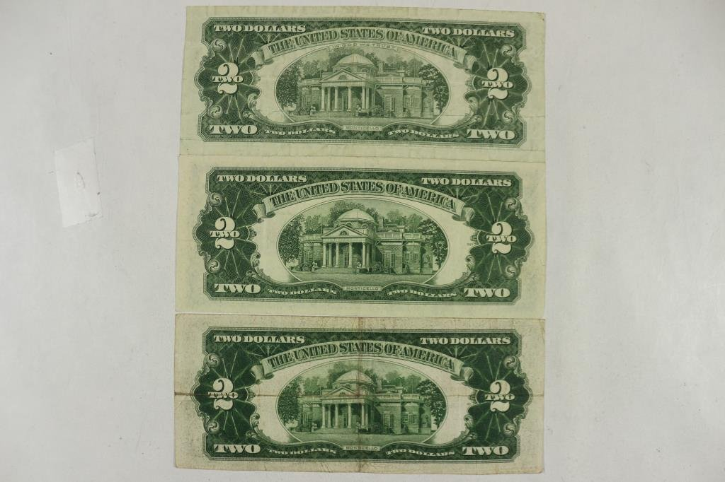 1928-D,53 & 63 $2 UNITED STATES NOTES RED SEALS - 2
