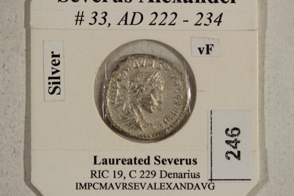 SILVER 222-234 A.D. SEVERUS ALEXANDER ANCIENT COIN - 3