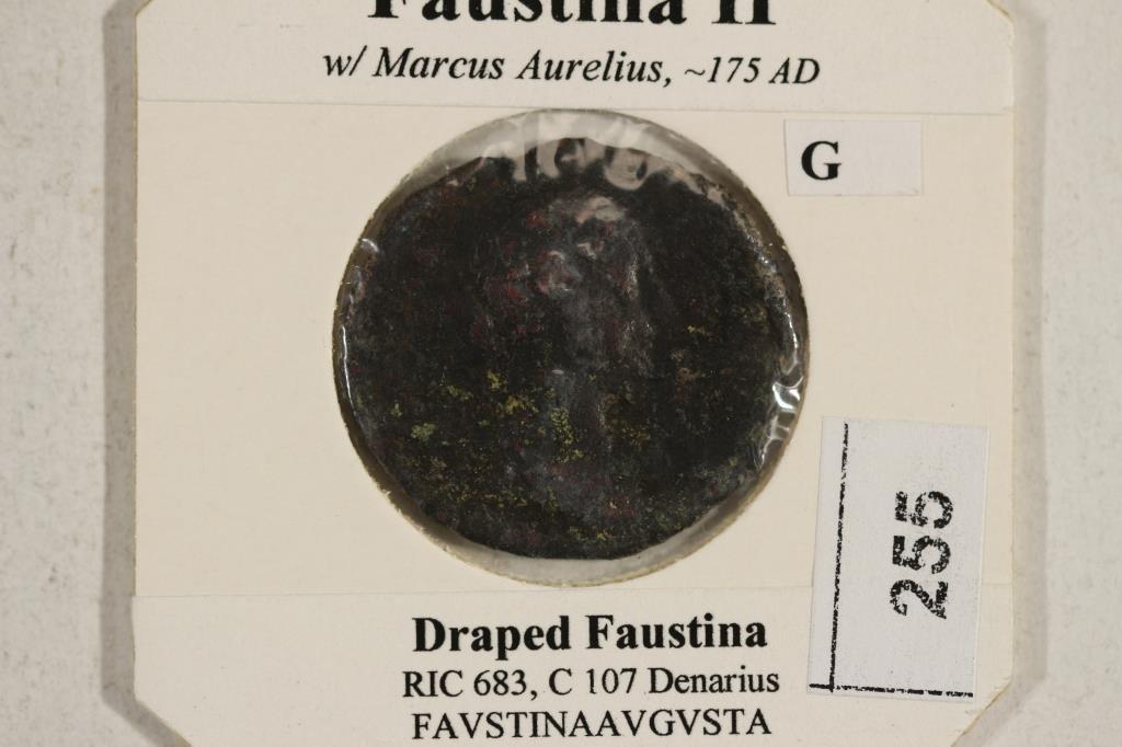 175 A.D. FAUSTINA II ANCIENT COIN - 3