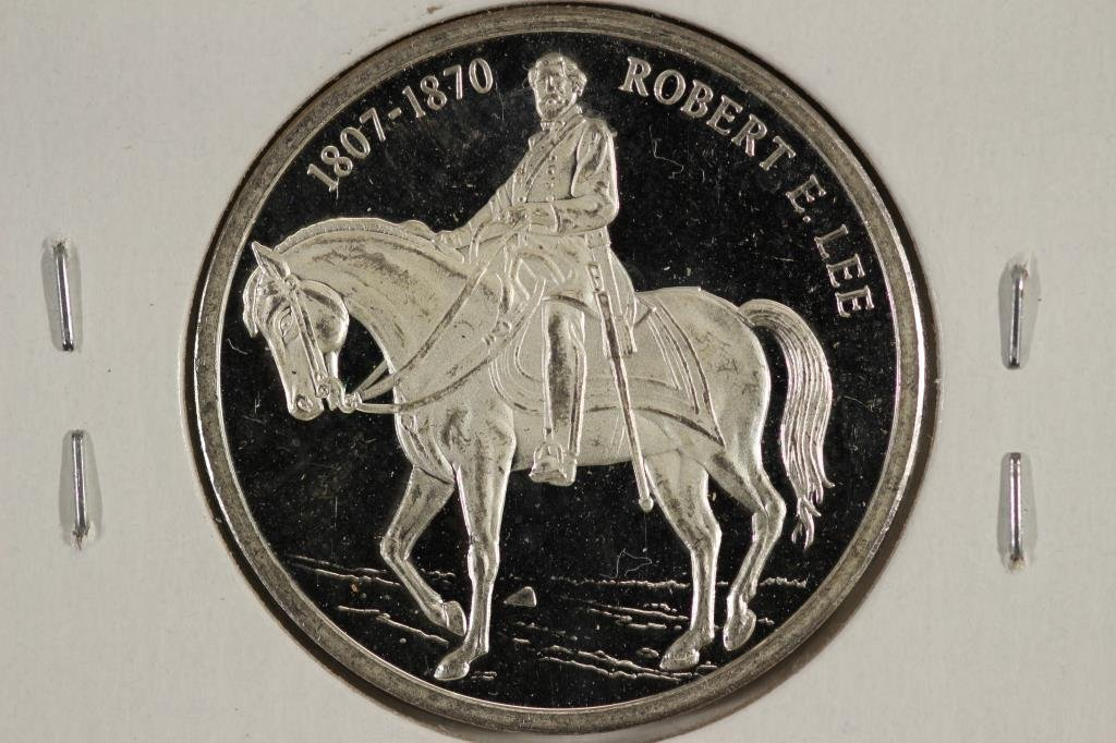 8.5 GRAM .999 SILVER PROOF ROUND ROBERT E LEE
