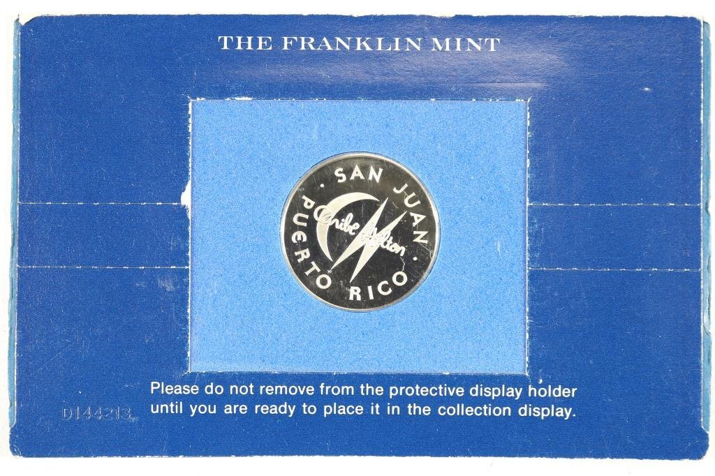 $25 CASINO CARIBE HILTON SILVER PROOF TOKEN - 2