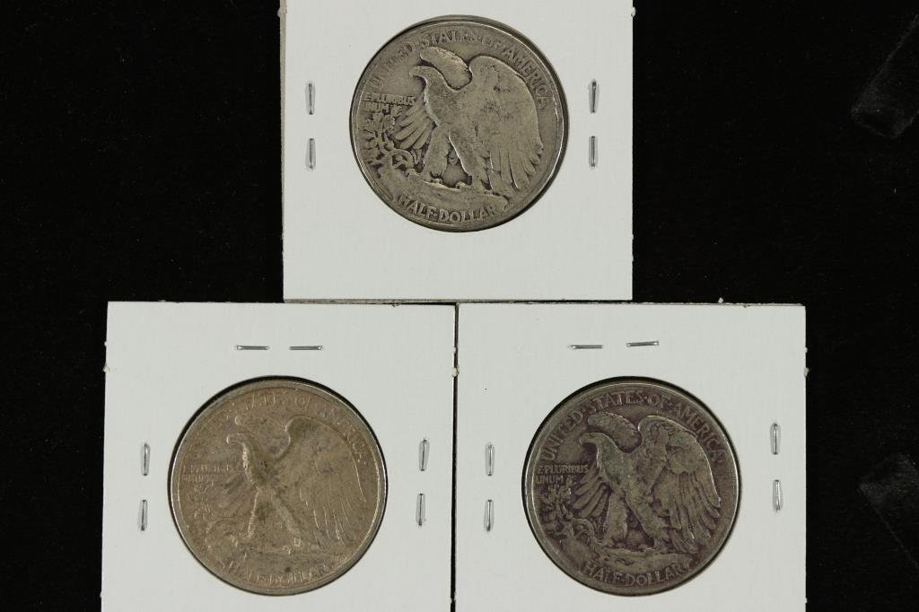 1941,43-S & 46 WALKING LIBERTY HALF DOLLARS - 2