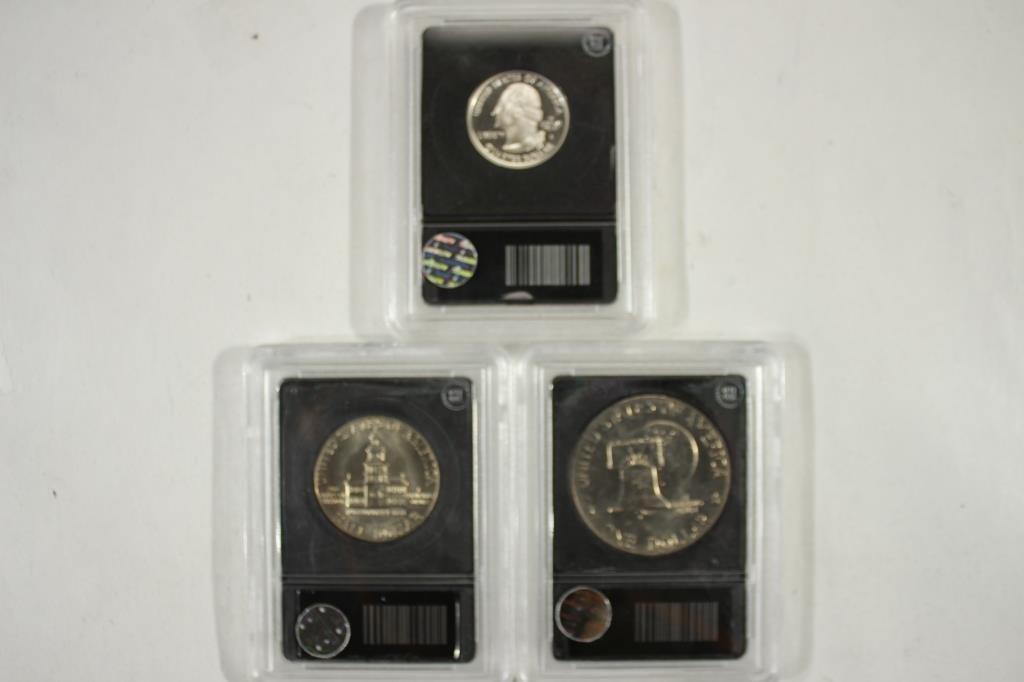 3 SLABBED COINS SEE DESCRIPTION - 2