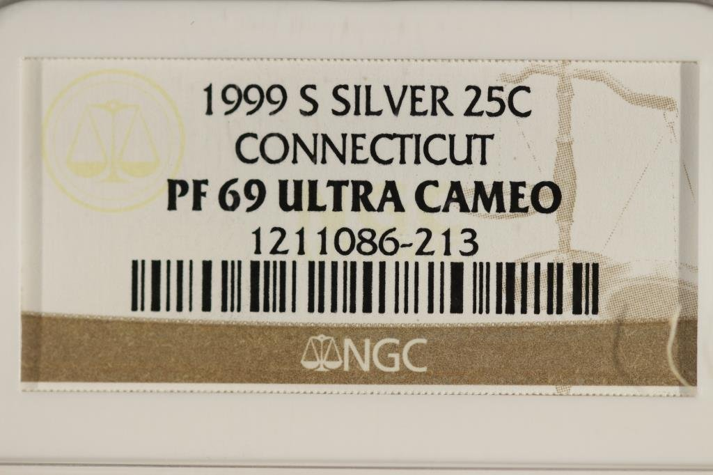 1999-S SILVER CONNECTICUT QUARTER NGC PF69 - 3