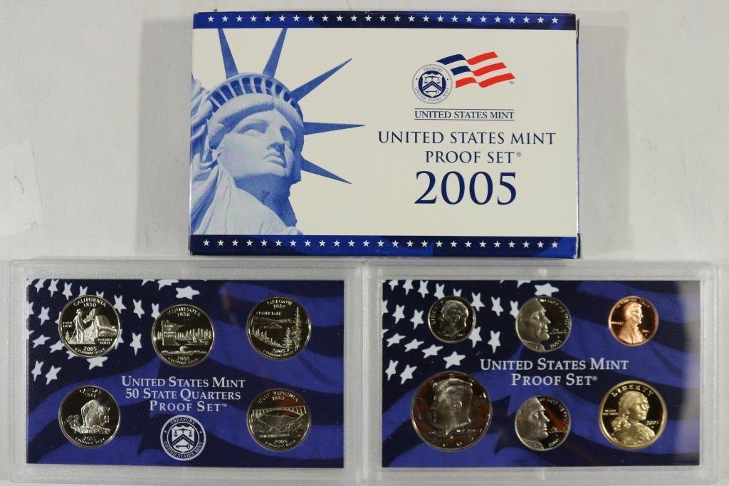 2005 US PROOF SET (WITH BOX)