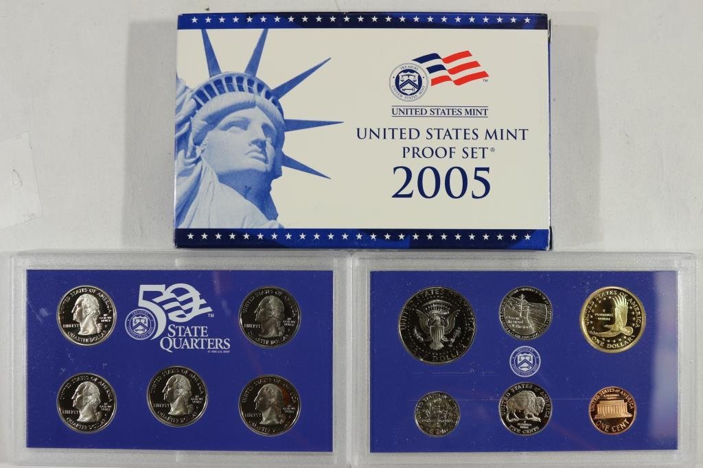 2005 US PROOF SET (WITH BOX) - 2
