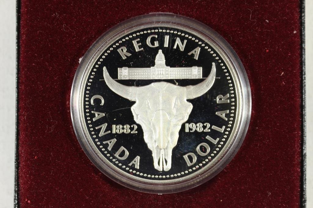 1982 CANADA REGINA SILVER DOLLAR PF .3750 OZ. ASW