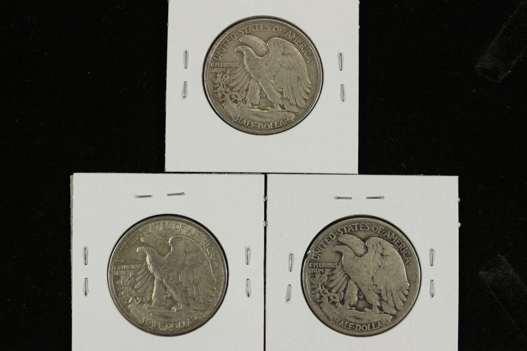 1942,43-S & 46 WALKING LIBERTY HALF DOLLARS - 2