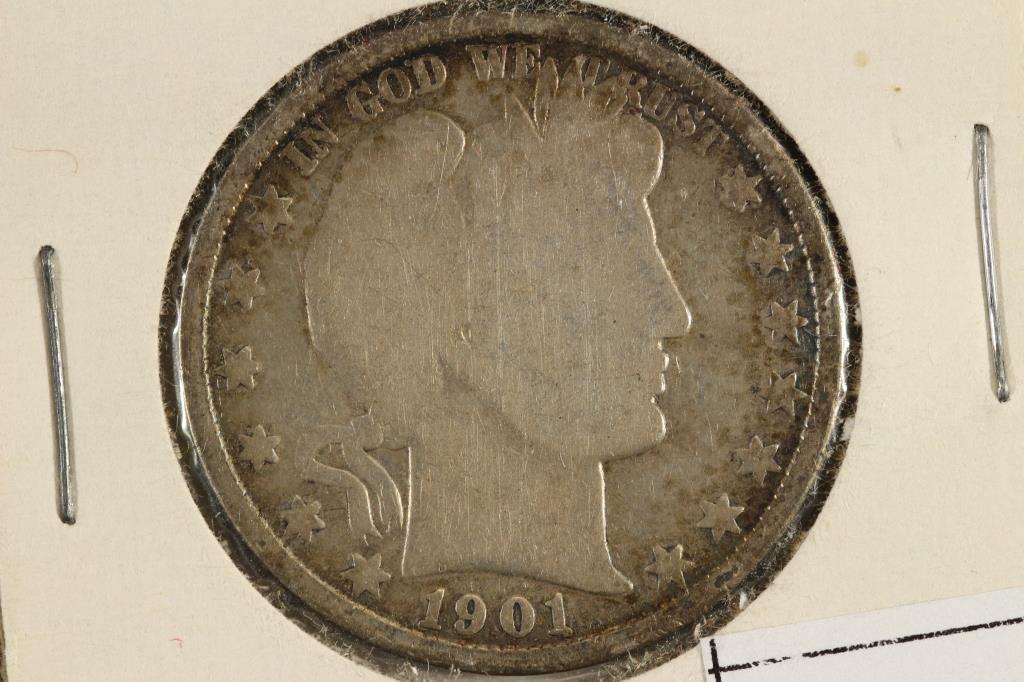 1901 BARBER HALF DOLLAR