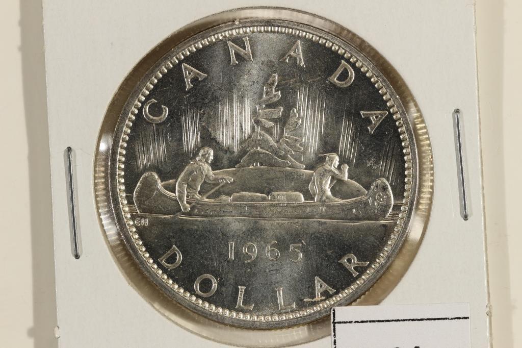 1965 CANADA SILVER DOLLAR UNC