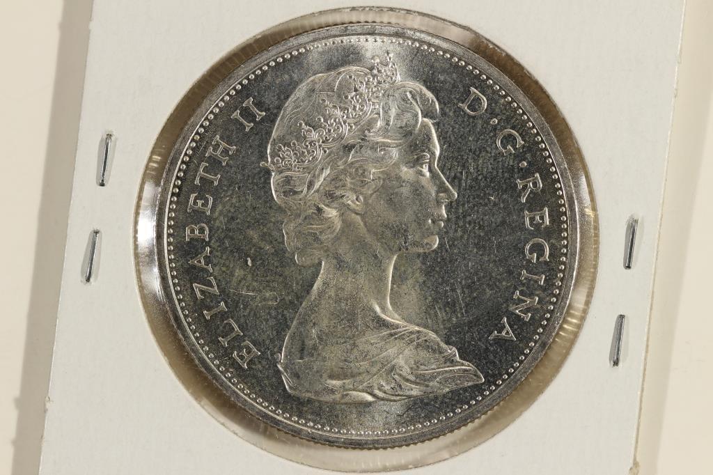 1965 CANADA SILVER DOLLAR UNC - 2